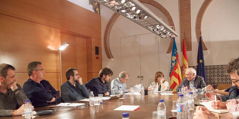 Reunió de la mesav amb el nou responsable de CulturArts